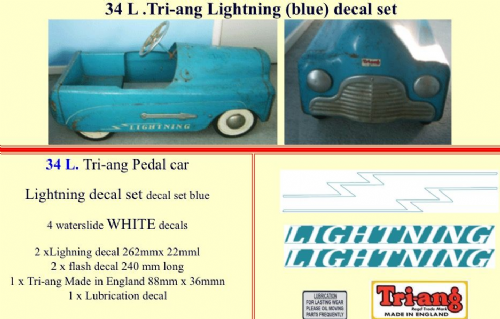 34L Tri-ang Lightning (blue) decal set